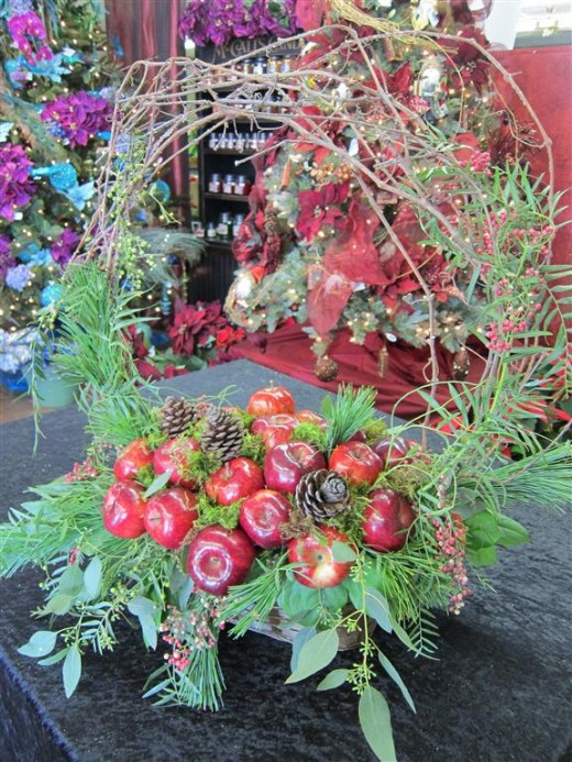 holiday centerpiece, floral, design tutorial, easy centerpiece, florist