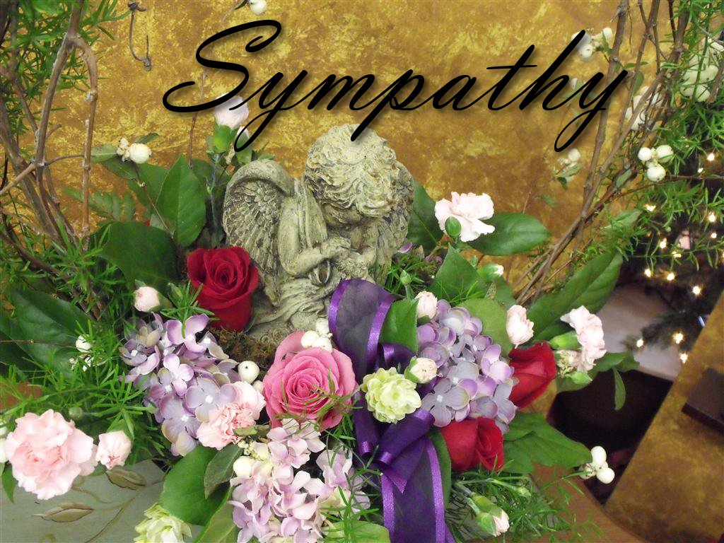 Funeral flowers design sympathy tribute angel urn