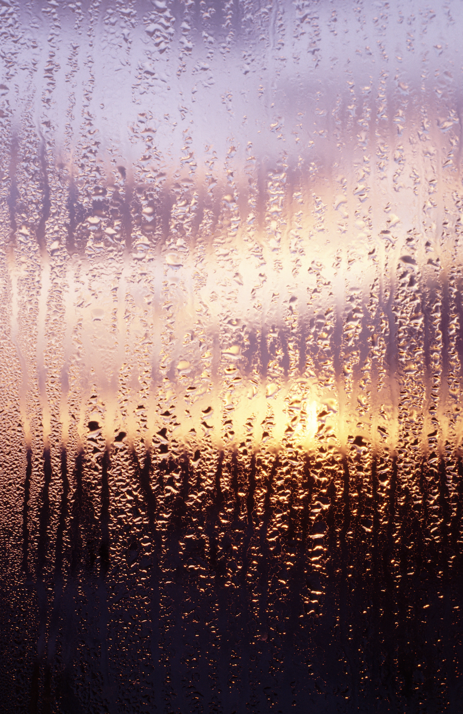 rain water on window