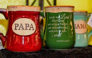 faux clay coffee mugs